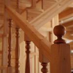 Лестница из Карпатской сосны