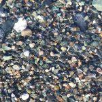 Галечный пляж в Абхазии, галька