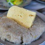 Мамалыга с сыром в Абхазии